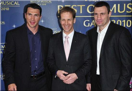Виталий и Владимир Кличко на Best of Musical Gala 2010