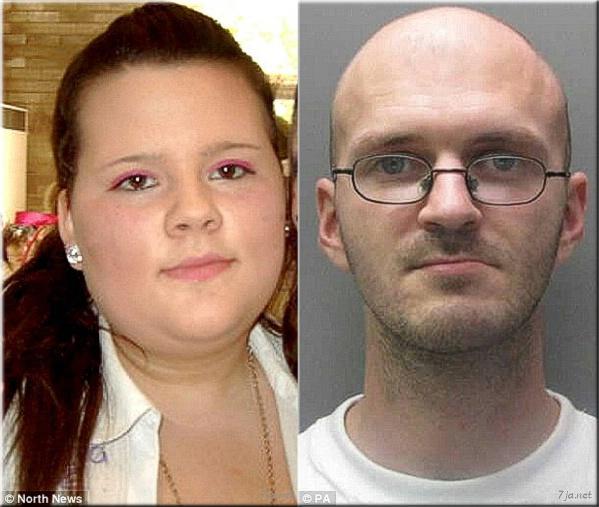 17-летняя девушка Эшли Холл и ее убийца Питер Чэпмэн