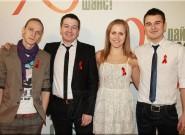Украинские артисты выступили против СПИДа