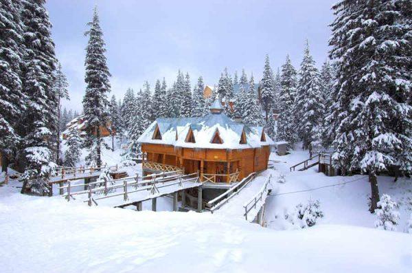 жилье в Карпатах зимой