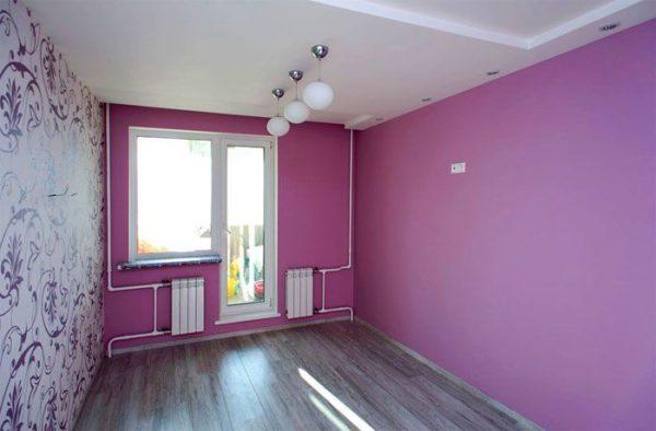 Краска – практический вариант отделки стен