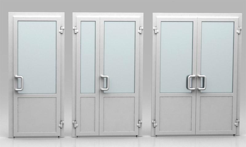 Современные входные двери из ПВХ